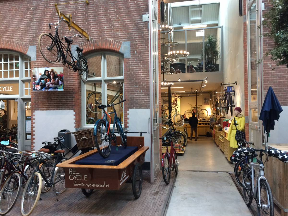 Recycle winkel in de Hallen Amsterdam